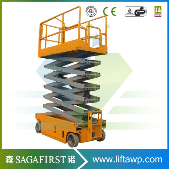 12m Hydraulic Driven Self Propelled Scissor Lift Table Lifting pictures & photos