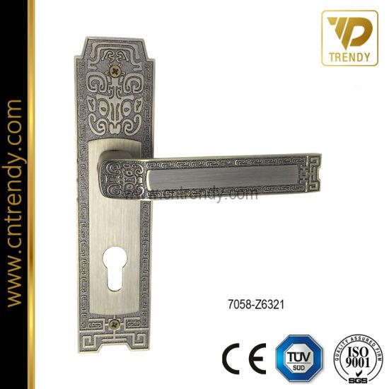Door Handles Fancy Lock Lever Handle On Plate 7058Z6321