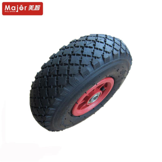 10X3.00-4 Rubber Pneumatic Wheel for Wheelbarrow and Hand Trolley pictures & photos