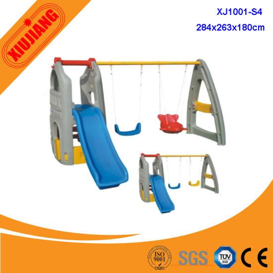 Plastic Kids Swing and Slide Set for Playground