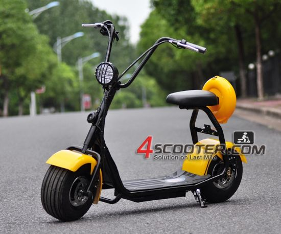 2016 New Citycoco 2 Wheels Electric Motorcycle Patent Design Es5018 pictures & photos