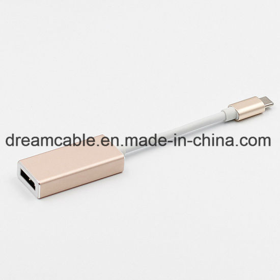 Aluminium Alloy USB C to Displayport Adapter Cable for Notebook pictures & photos