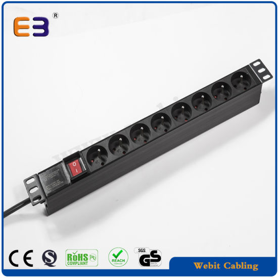 19′′ French Power Distribution Unit PDU for Network Cabinet Rack pictures & photos