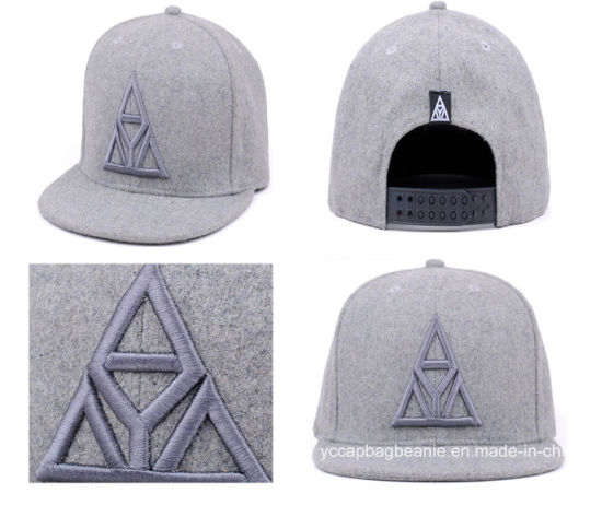 ec6836cff9b46 China Custom Flat Bill Wholesale Hat with 3D Embroidery - China ...