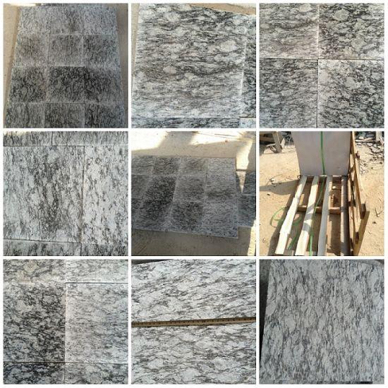 Spray White Granite Tiles and Slabs for Floor/Stair/Countertop