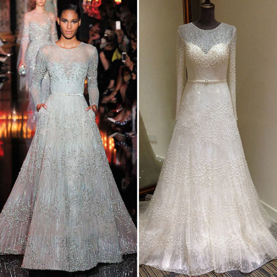 Elie Saab Gorgeous Beading Lace Long Sleeve Wedding Dresses Tm Al017 China Wedding Dresses And Wedding Gown Price Made In China Com