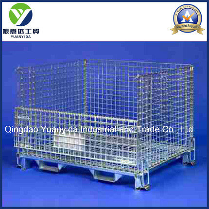 Storage Foldable Galvanized Metal Mesh Pallet Box Containers/Wire Mesh Palley Cage/Stillages pictures & photos