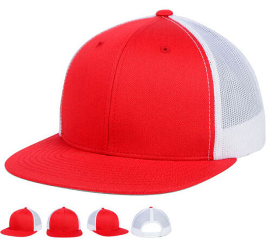 578be6716 China Red and White Cotton Trucker Gimme Cap with DIY Embroidery ...