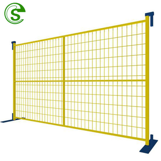 6FT X 8FT Portable Welded Wire Mesh Fence Canada Temporary Construction Fencing