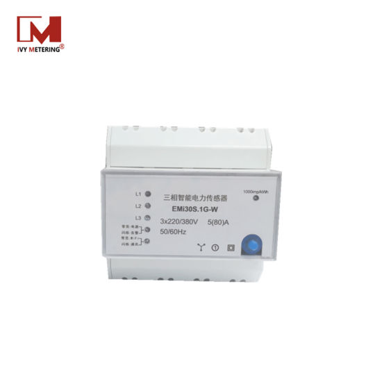 High Accuracy 3- Phase 4 -Wire 80A Digital DIN Rail Meter