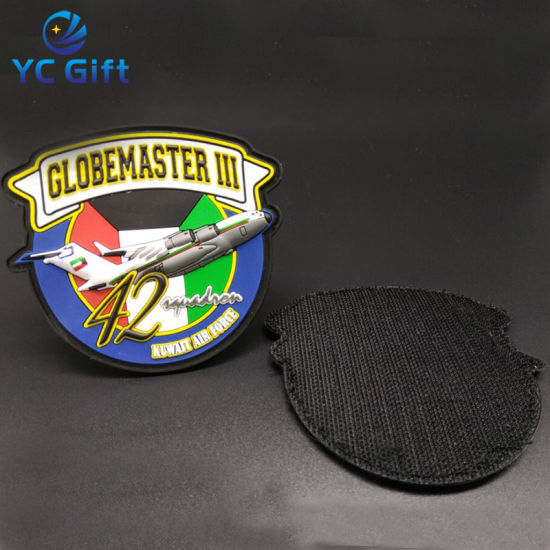 China Wholesale Custom Heat Transfer Tactical Gear Police Patch Iron on Sticker Name Clothing Label Printing Military 3D PVC Rubber Patches for Souvenir (PT01)