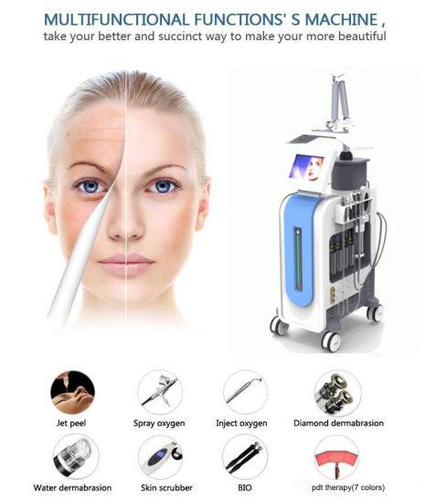 Hydrafacial Hydro Dermabrasion Water Dermabrasion Oxygen Jet Peeling PDT LED Bio Light Therapy Hydra Facial Machine for Skin Rejuvenation