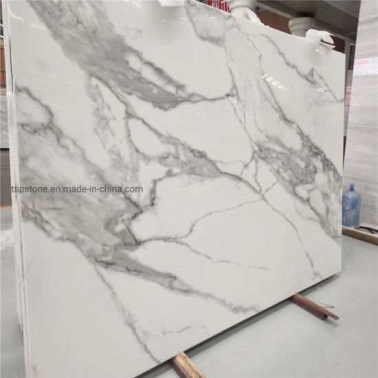 White Artificial Micro Nano Crystallized Glass for Stone Panel/Slab/Countertop/Vanity Tops pictures & photos