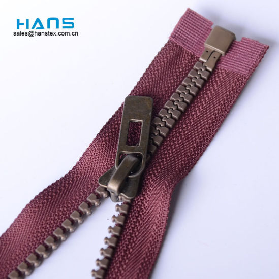 Hans Excellent Quality and Reasonable Price Eco Friendly 5#Resin Zipper pictures & photos