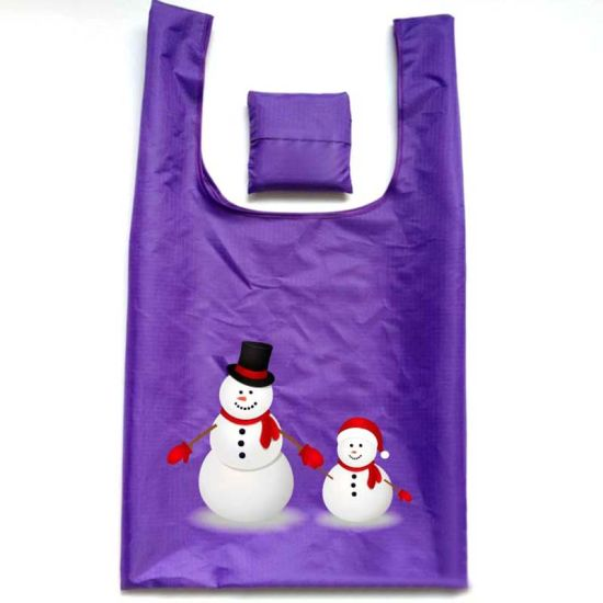 Reusable Foldable Shopping Bag Polyester Shopping Tote Bag