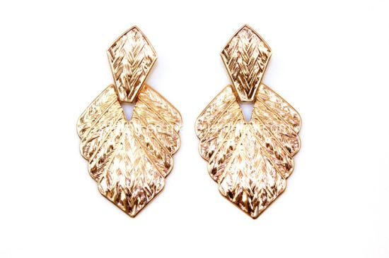 Hot Sealing Gold Leaf Earring Fashion Long Alloy Jewelry Earring Free Shipping pictures & photos