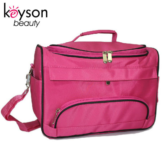 Rose Red Light Weight Microfiber Professional Cosmetic Travel Bag pictures & photos