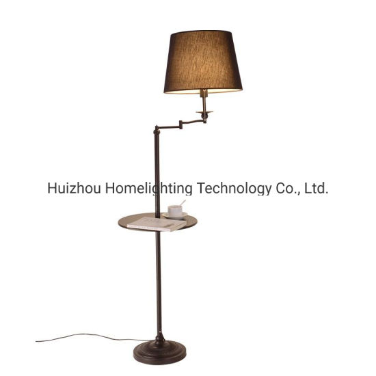 Jlf 23209 Decorative Multi Function Swing Arm Floor Standing Lamp With End Table