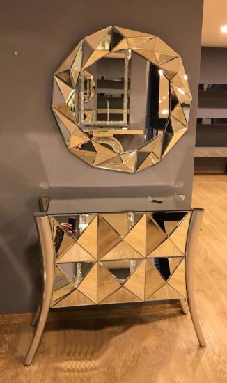 Living Room Mirrored Furniture Console, Mirrored Living Room Furniture Set