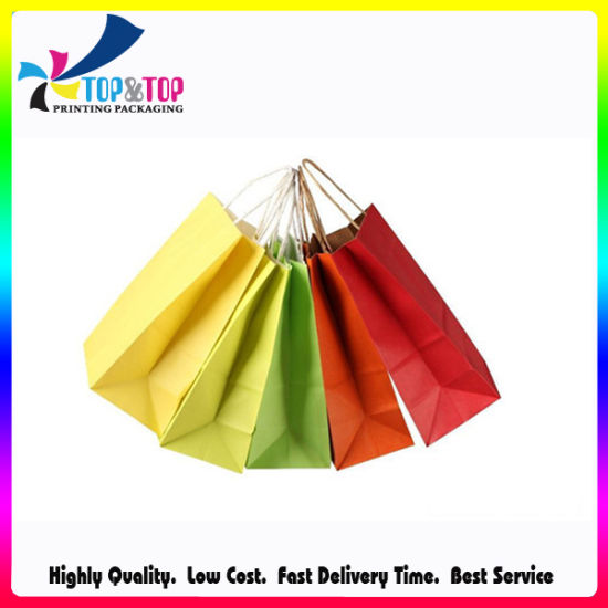 Factory Price Colorful Printed Packaging Paper Bags for Clothing/Gift/ Cosmetic