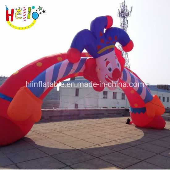 Giant LED Lighting Cute Clown Inflatable Archway