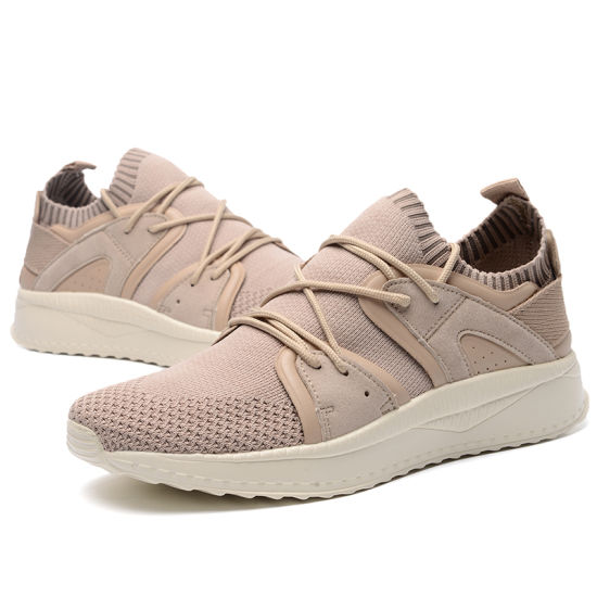 Good Quality Fashion Customized Breathable Flyknit Sneaker Shoes and Comfort Running Shoes for Men