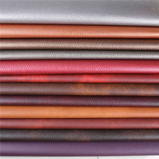 Litchi Grain 1.2mm Thickness PVC Imitation Leather for Sofa Fabric (788#)