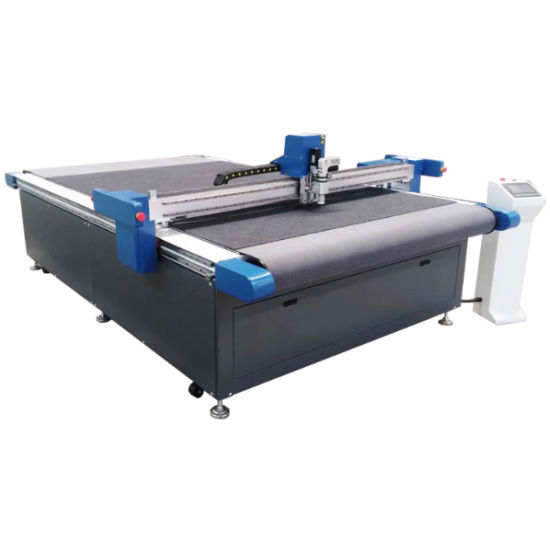 CNC Knife Cutting Machine for PVC\ Advertising Materials \Paper \Leather\ by Oscillating Knife