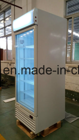 China Upright Freezer Showcase Upright Glass Door Freezer Glass