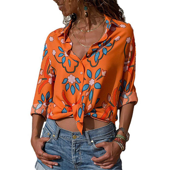 Fashion Holiday Hawaii Print Chiffon Shirt for Women pictures & photos