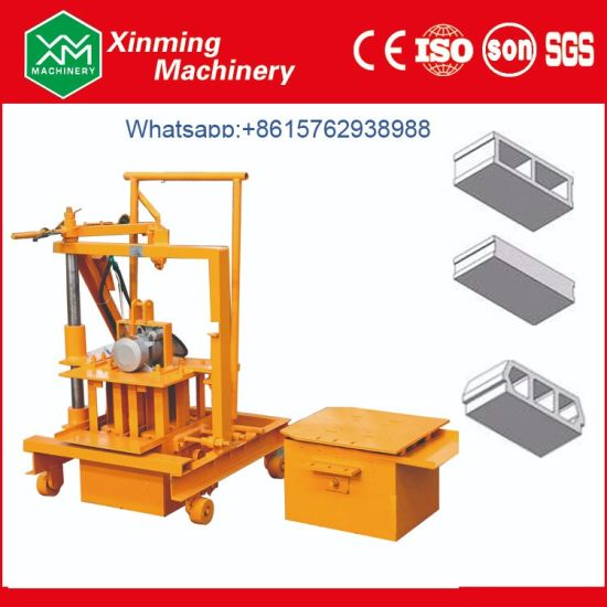 Qmy2-45 Small Movable Concrete Hollow Block Machine Cement Solid Brick Making Machine Price for Brick Manufacturer