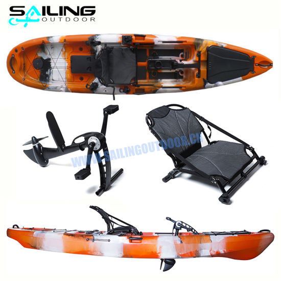 13FT Wholesale Single Fishing Boat Pedal Kayak Foot Paddle Boats for Sale