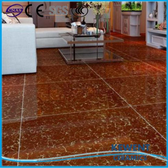 China Non Slip Double Loading Red Pulati Polished Porcelain Floor