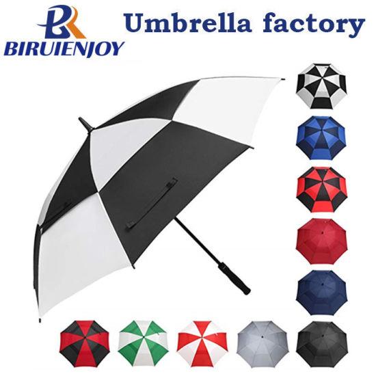 Custom Oversize Black White Double Canopy Sports Umbrella with Logo Printing