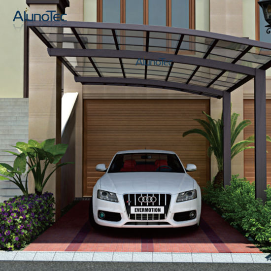 Modern Single Aluminum Polycarbonate Carport for 1 Car pictures & photos