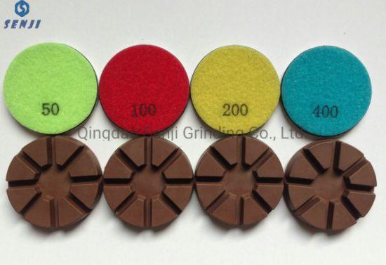 Metal Copper Bond Resin Diamond Floor Polishing Pad Grinding Tool for Concrete Floor Grinding