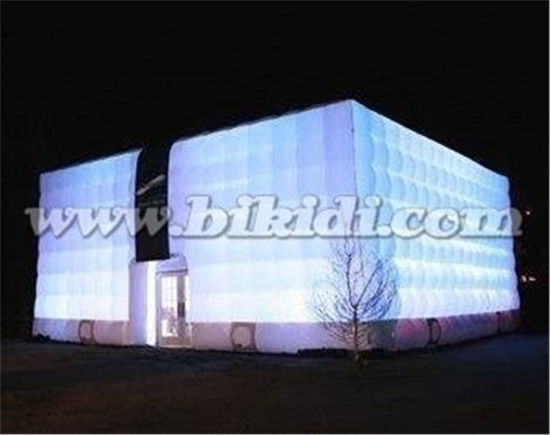 Outdoor White Lighting Inflatable Bubble Cube Tent K5077