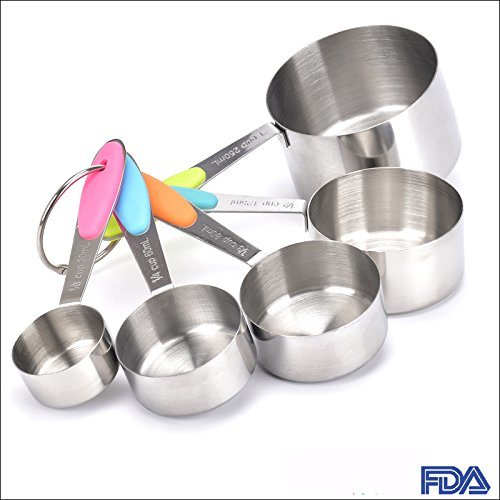 Measuring Cups with Silicone Handle Grip, Measurement for Dry/Liquid pictures & photos