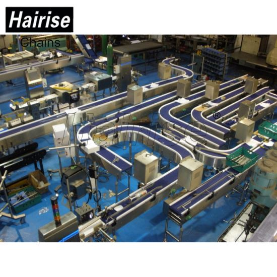 Hairise Customized FDA Powered Belt Plastic Conveyor with ISO pictures & photos