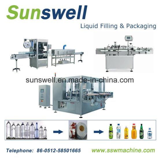 Automatic Round Bottle Glue OPP / BOPP Sticker Labeller Label Labeling Machine