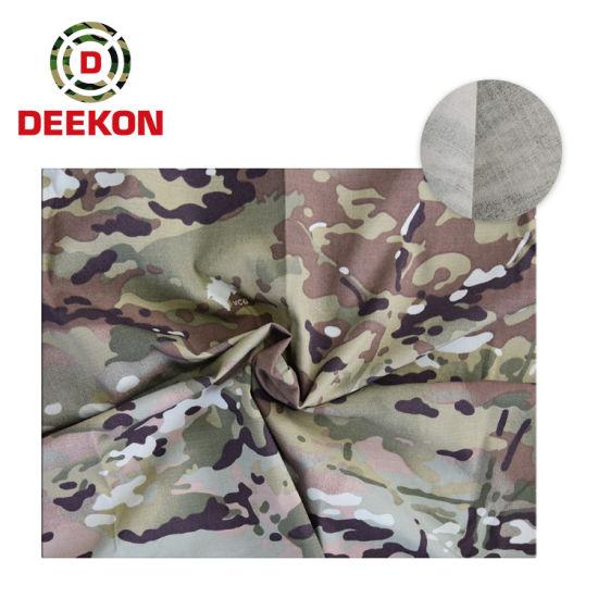 Waterproof Montenegro Vcg2 CVC 65/35 Ripstop Military Camouflage Fabric