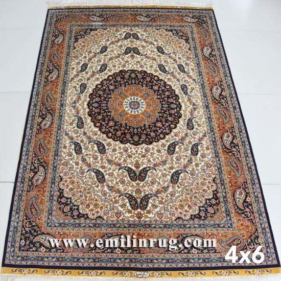 Persian Qum Rugs Silk Boteh Design