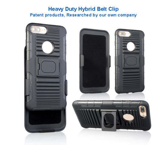 2017 Newest Arrival 3 in 1 PC+TPU Mobile Phone Case with Belt Clip and Kickstand for iPhone 6s/for iPhone 7