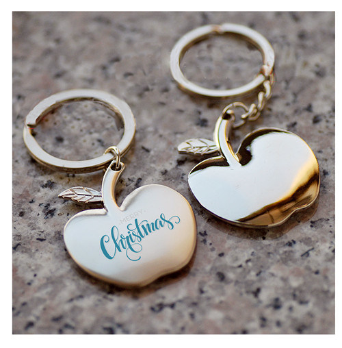 Custom Promotional Souvenir Apple Key Chain for Christmas Gift pictures & photos