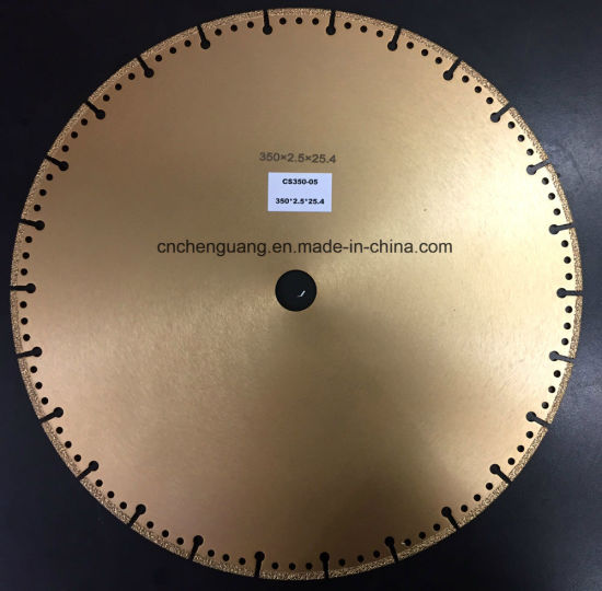 Vacuum Brazed Diamond Saw Blade for Porcelain Tiles pictures & photos