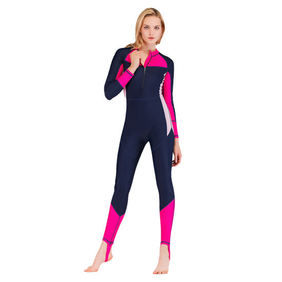 Womens One-Piece Full Body Front Zipper Lycra Swimsuit pictures & photos