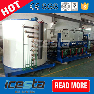 Icesta 60 Tons Flake Ice Machine for Fishing Industry