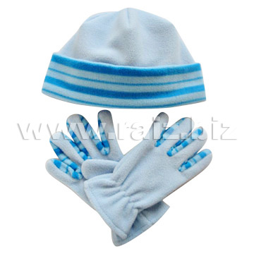 Polar Fleece Hat & Gloves Set pictures & photos