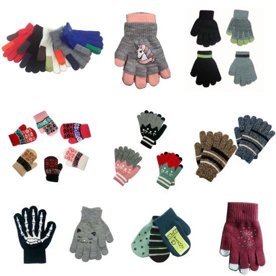 Winter Warm Knitted Gloves pictures & photos