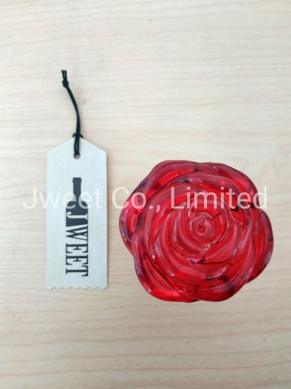 Custom Red Rose Flower Design Wine Glass Bottle Cork Stopper